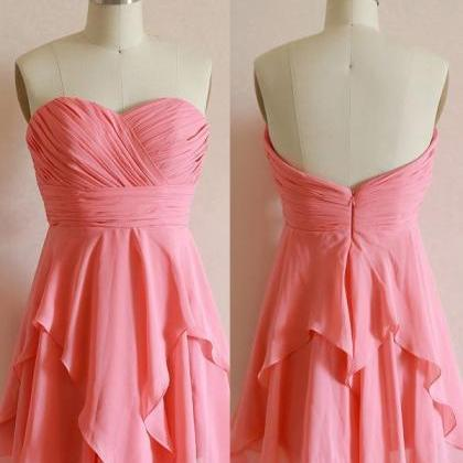 Pretty Short Pink Knee Length Prom ..
