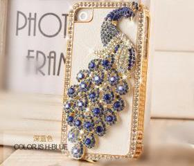 Luxury Leather case Iphone 4 case Handmade Iphone4S case cover Diamond crystal Iphone 5G case samsung I9300 SIII